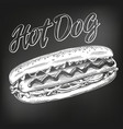 hot dog fast food hand drawn vector image vector image