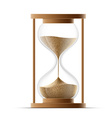 hourglass isolated on white background vector image vector image