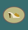 icon in flat design fashion footwear flip flops vector image vector image