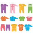 icons baclothes vector image vector image