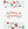 inscription gifts celebration happy christmas vector image vector image