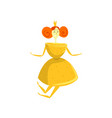 lemon cartoon character girl in fruit costume vector image