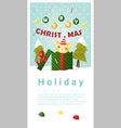 Merry Christmas Greeting banner with cat inside