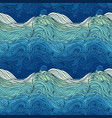 ocean waves big vector image
