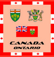 official government elements of canada - ontario vector image