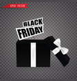 open black gift box black friday sale on vector image