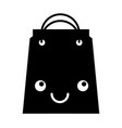 paper shopping bag kawaii character vector image vector image