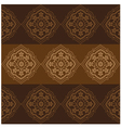 Persian Flower Pattern Brown vector image