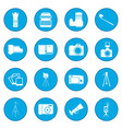 photography icon blue vector image vector image