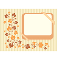 Retro frame with autumn leaves vector image