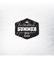 Retro summer label in doodle sketch style isolated vector image