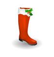 santa boots icon symbol design red santa shoes vector image