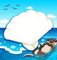Sea otter vector image vector image