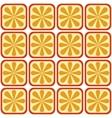 seamless orange pattern vector image