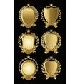 set gold heraldic nameplates for design vector image