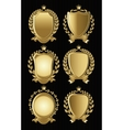 set of gold heraldic of nameplates for design vector image vector image