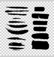 set of grunge black watercolor brush strokes vector image