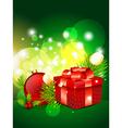 shiny merry christmas design vector image