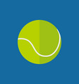 simple flat style tennis ball sport graphic vector image vector image