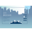 simple minimalistic city skyline traveling vector image vector image