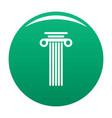 square column icon green vector image