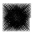 square isolated grunge vector image vector image
