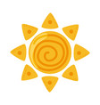 sun summer day weather cartoon flat style icon vector image
