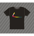 t-shirt painting vector image