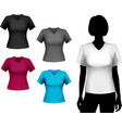 T-shirts female set vector image vector image