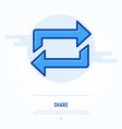 thin line icon of share exchange transfer vector image