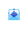 town mail logo icon design vector image vector image