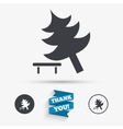 Tree sign icon Break down tree symbol vector image vector image