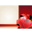 Valentine heart and ribbon vector image vector image