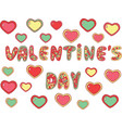 valentine s day - word lettering greeting card vector image