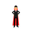 vampire character posing with hands on a hip vector image