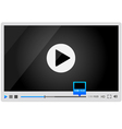 Video player for web minimalistic design vector | Price: 1 Credit (USD $1)