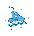 water skiing icon design vector image