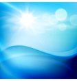Water wave in sunny day vector image