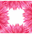 watercolor pink dahlia botanical art template vector image vector image