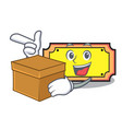 with box ticket character cartoon style vector image