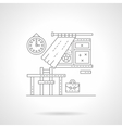 School lessons flat line icon vector image