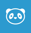 panda icon white on the blue background vector image