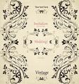 Vintage floral pattern for your design vector image