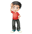 A stressed young man vector image vector image