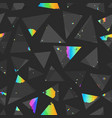 abstract triangle seamless pattern with colored vector image vector image