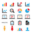 analytic icon vector image vector image