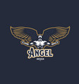 angel man emblem vector image