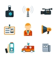 Assorted Journalism Flat Icons vector image vector image
