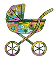 Baby carriage colorful vector image vector image