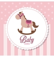 Baby Shower design horse icon graphic vector image vector image